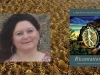 Loretta Klobah juxtaposed with the cover to her book Ricantations