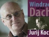 A photograph of Jurij Koch juxtaposed with the cover to his book Windrad auf dem Dach
