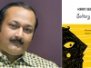 A photo of author Kiriti Sengupta juxtaposed with the cover to his book, Solitary Stillness