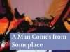A detail from the cover to Judith Summerfield's A Man Comes from Someplace