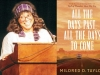 A photograph of Mildred Taylor juxtaposed with the cover to her book All the Days Past, All the Days to Come