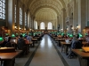 A long shot of the Bates Room in the Boston Public Library
