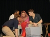 OU School of Drama students acting out a scene from Mistry's A Fine Balance. Photo by Michelle Datin.