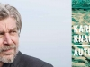 A photo of Karl Ove Knausgård juxtaposed with the partial cover to his book Autumn