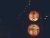 Car lights at night.