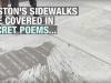 Screen capture of Boston's sidewalk poetry