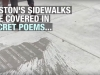 Screen capture of Boston's sidewalk poetry