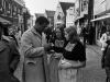 Muhammad Ali signing autographs for Volendam women.
