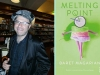 A photograph of Baret Magarian juxtaposed with the cover to his book, Melting Point