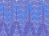 An abstract image composed of blue dots and violet curves on a purple background