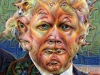 Google Deep Dream illustration of Donald Trump.