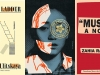 The covers to Ludmila Ulitskaya's Jacob's Ladder, Yoko Ogawa's The Memory Police, and Zahia Rahmani's Muslim: A Novel