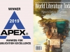 The logo for the APEX award juxtaposed with the cover to the May 2018 issue of WLT