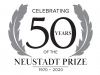 "Logo: Text reads ""Celebrating 50 Years of the Neustadt Prize. 1970-2020"""