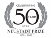 The logo for the 2020 Neustadt Lit Fest. Text reads Celebrating 50 Years of the Neustadt Prize: 1970-2020