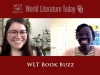 A title screen for the WLT Book Buzz from World Literature Today