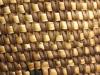 A close-up photograph of a woven basket