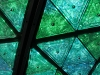 Close up of a stained glass New Year's ball