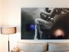Photo print in a living room