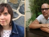 Translation prize winner Allana C. Noyes juxtaposed with poet Fabián Casas