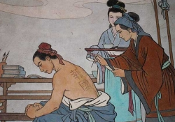 Painting from the General Yue Fei Memorial Temple, Hangzhou   Photo by Chrisjtse