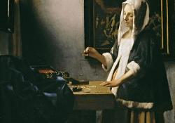 Johannes Vermeer, Woman Holding a Balance, ca. 1664, oil on canvas
