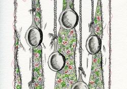 Roasted Lover Thighs illustration by Marla Johnson