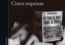 The cover to Cinco esquinas by Mario Vargas Llosa