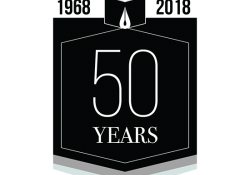 A logo for the 50th anniversary of the Puterbaugh Festival