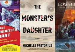 Three covers from the WLT Speculative Lit Reading List