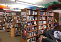 The interior of a bookstore