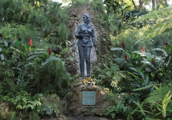 A garden surrounds the memorial to Celia Sánchez in Cuba