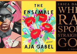 The book covers from the Music and Literature reading list composed into a triptych