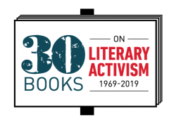 A graphic that reads 30 Books on Literary Activism 1967=2019