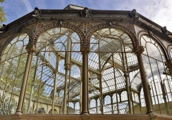 The Palacio Cristal in Madrid, a building made almost entirely of windows