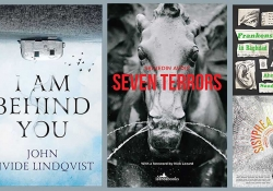 The covers to the four horror novels discussed in the article