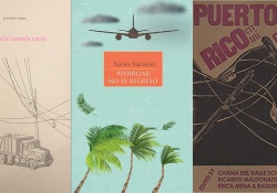 Three covers from the reading list below juxtaposed in a tryptich