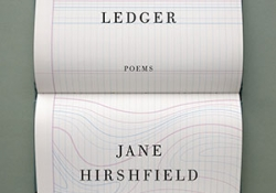 The cover to Ledger by Jane Hirshfield