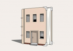 An illustration of a book with windows and a door like a house