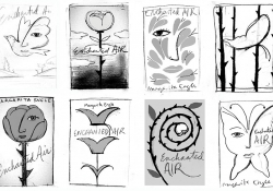 Eight cover design sketches by Edel Rodriguez for Margarita Engle's Enchanted Air