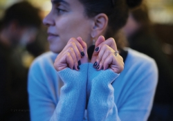 Sarah Ladipo Manyika sits, looking away from the camera, in a blue sweater