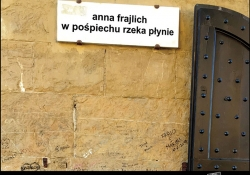 The cover to W pośpiechu rzeka płynie (Like a rushing river) by Anna Frajlich