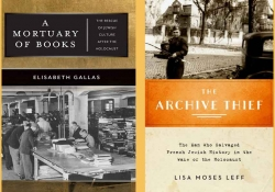 The covers to A Mortuary of Books and The Archive Thief