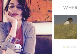 Left: Layli Long Soldier. Right: Book cover for Whereas
