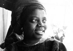 A photo of Buchi Emecheta from the cover of The Slave Girl