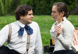 For several years, Lou Andreas-Salome (Katharina Lorenz) lived in a platonic relationship in Berlin with philosopher Paul Ree (Philipp Hauss). Sebastian Geyer/avanti media fiction