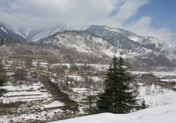 A Kashmiri village, swaddled in snow and ice