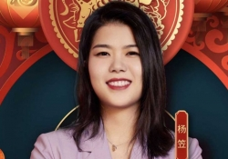 A photograph of the comedian Ying Li