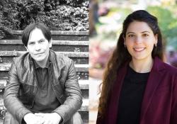 Author Gunter Silva and translation prize winner Samantha Vila