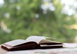 Open book outside